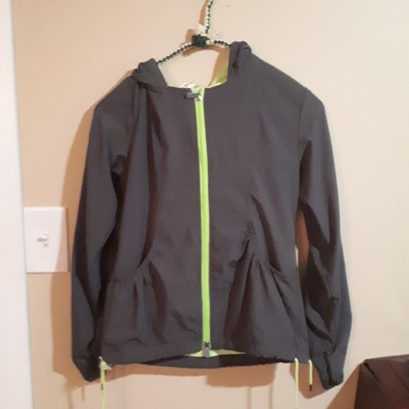 TRIPLE FLIP sz 4 grey/lime green jacket